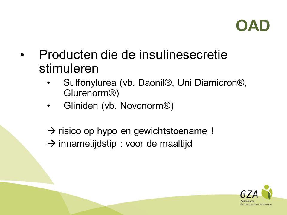 OAD Producten die de insulinesecretie stimuleren