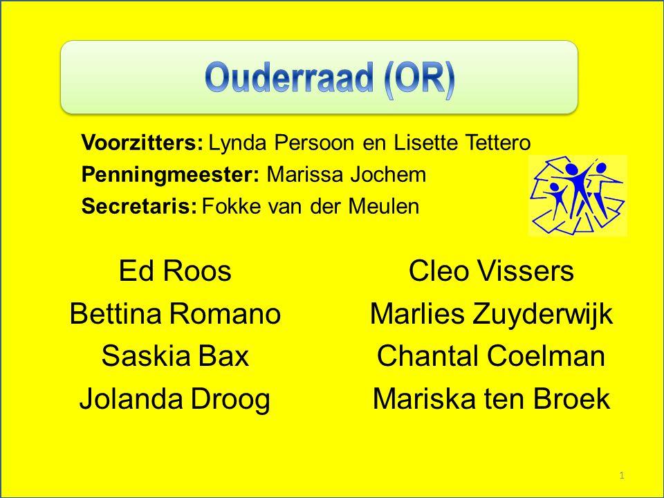 Ouderraad (OR) Ed Roos Bettina Romano Saskia Bax Jolanda Droog