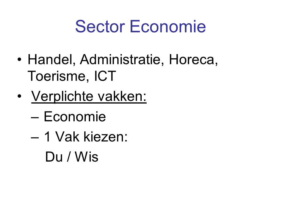 Sector Economie Handel, Administratie, Horeca, Toerisme, ICT