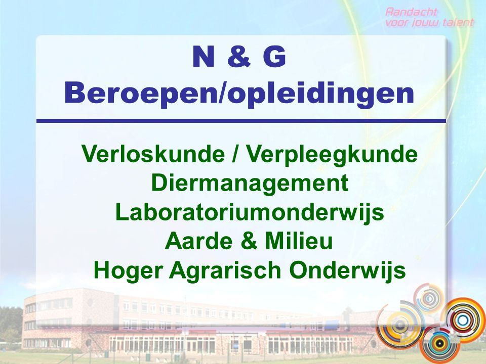 N & G Beroepen/opleidingen