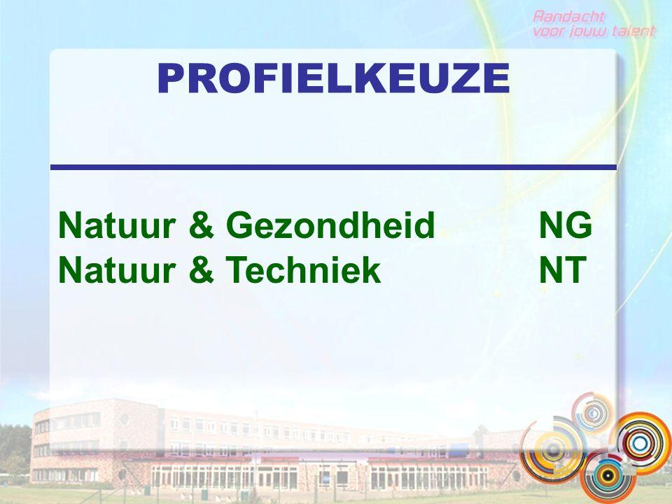 PROFIELKEUZE Natuur & Gezondheid NG Natuur & Techniek NT