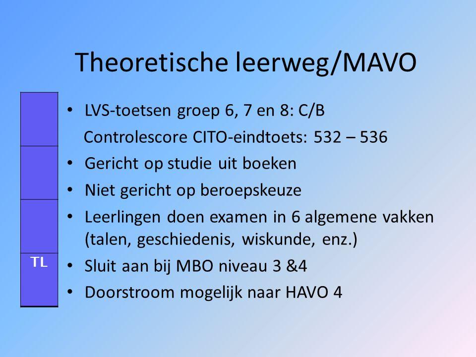 Theoretische leerweg/MAVO