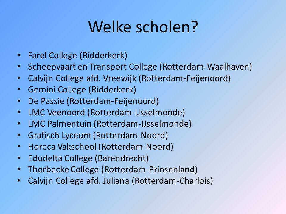 Welke scholen Farel College (Ridderkerk)