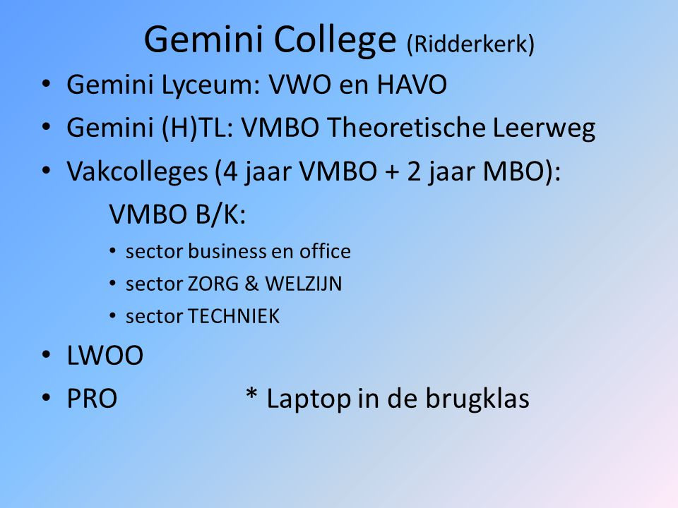 Gemini College (Ridderkerk)