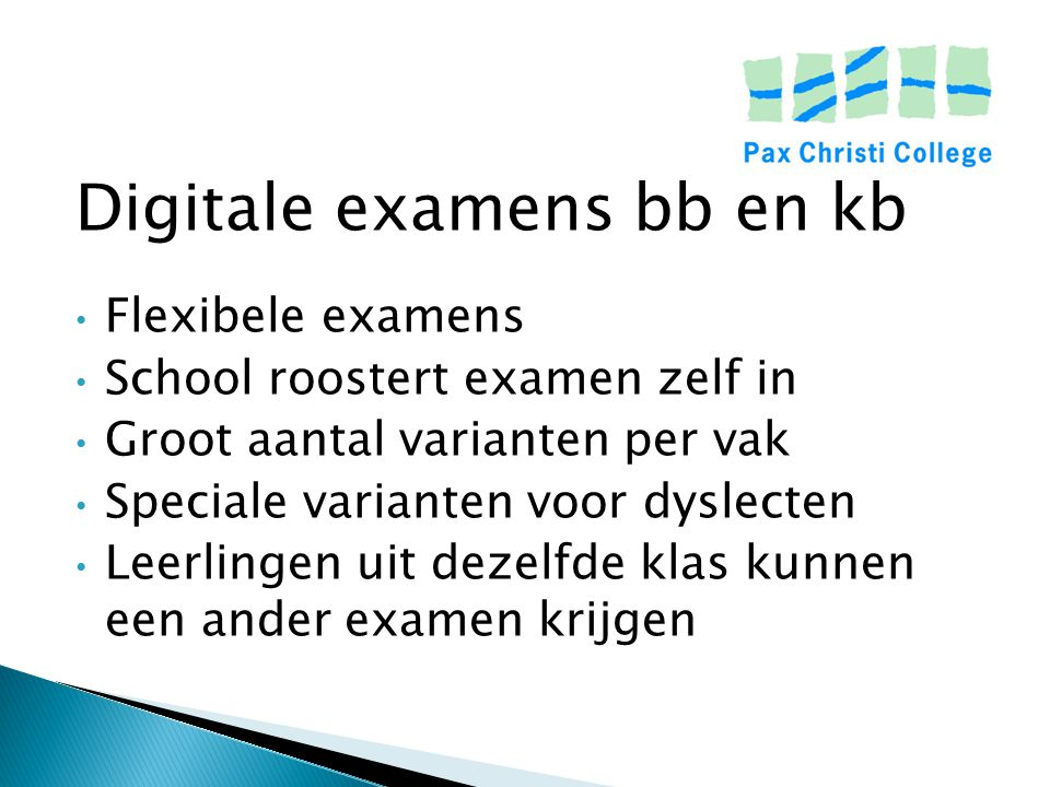 Digitale examens bb en kb