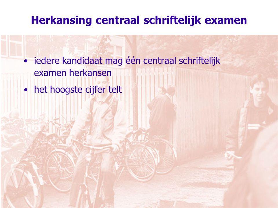 Herkansing centraal schriftelijk examen