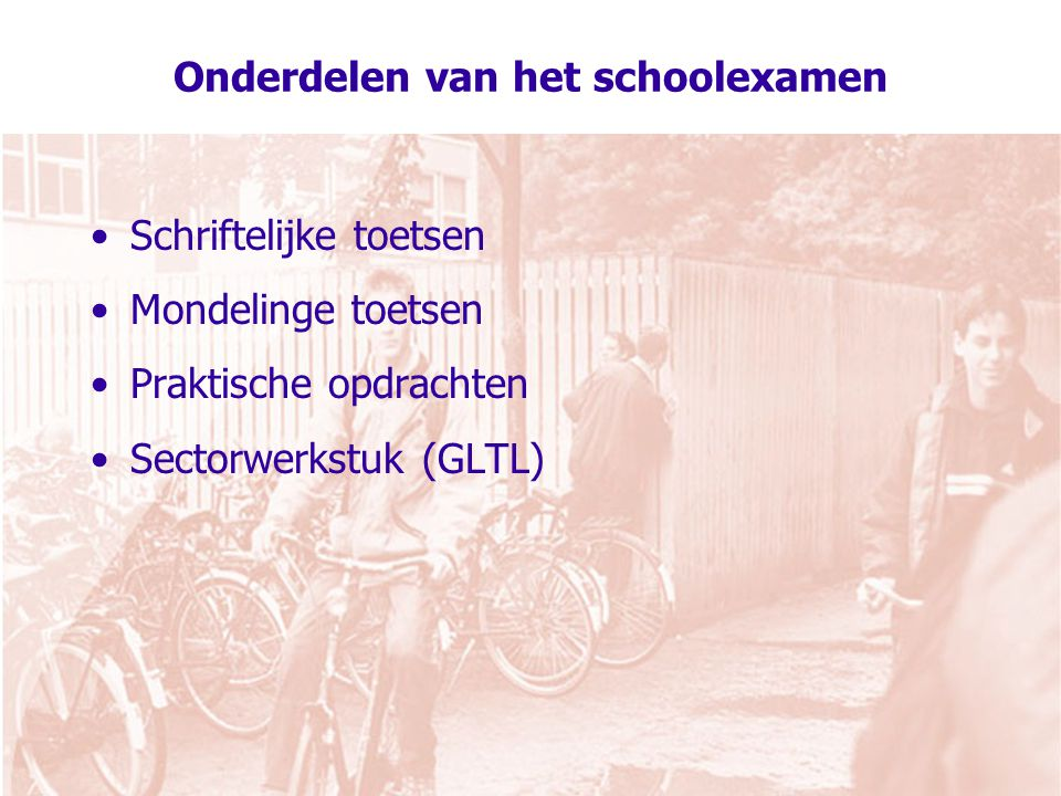Onderdelen van het schoolexamen