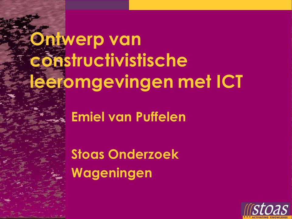 Ontwerp van constructivistische leeromgevingen met ICT