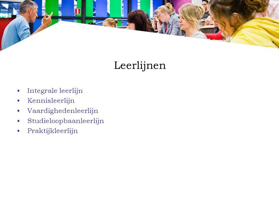 Leerlijnen Integrale leerlijn Kennisleerlijn Vaardighedenleerlijn
