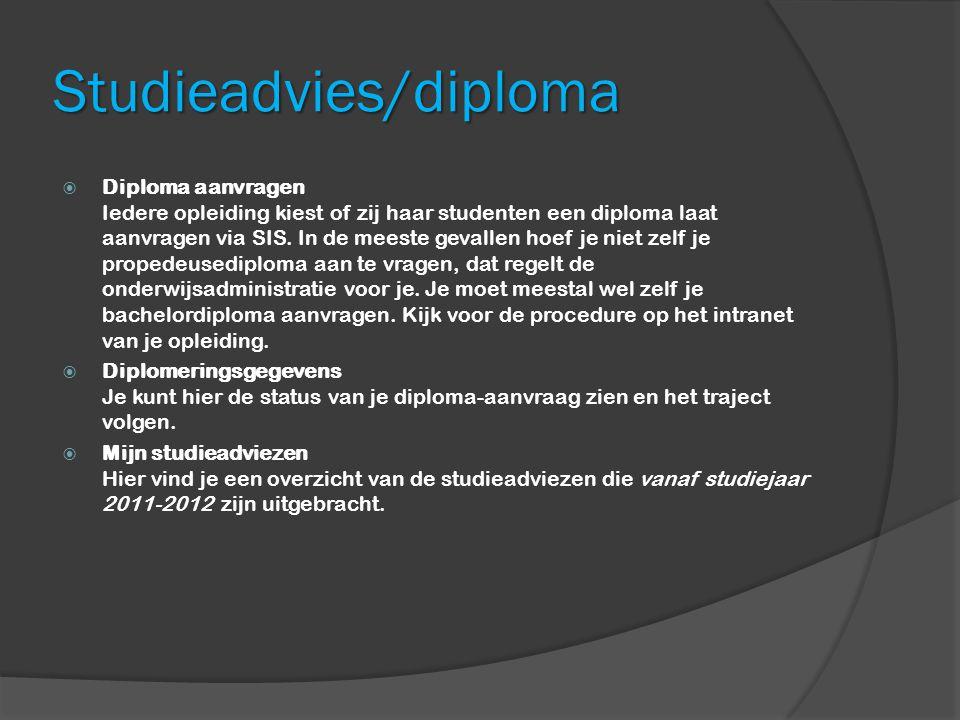 Studieadvies/diploma