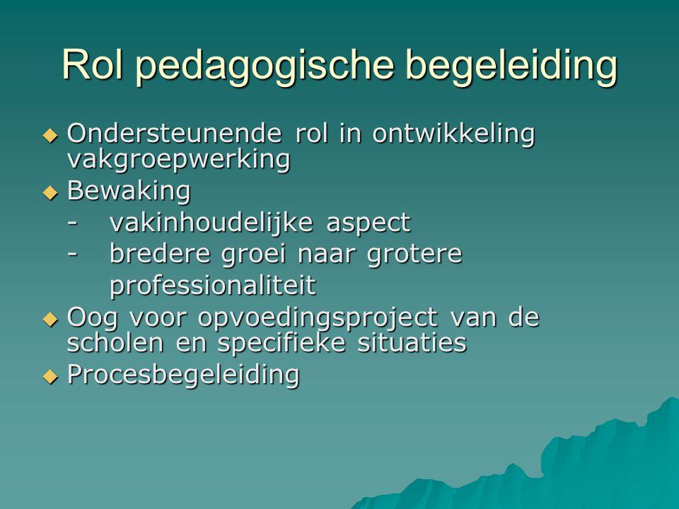 Rol pedagogische begeleiding