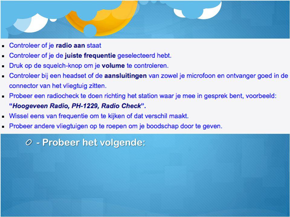 Verlies van radiocontact