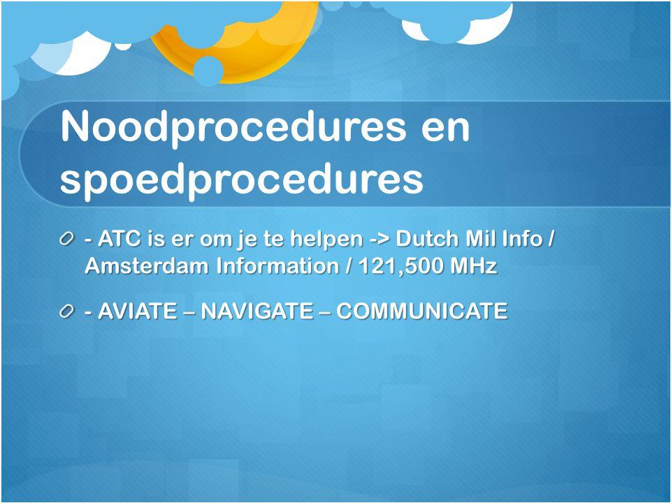 Noodprocedures en spoedprocedures