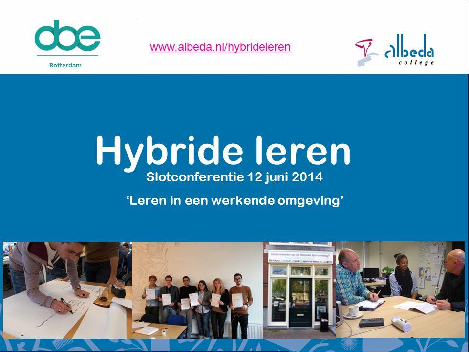 Slotconferentie 12 juni 2014 'Leren in een werkende omgeving'