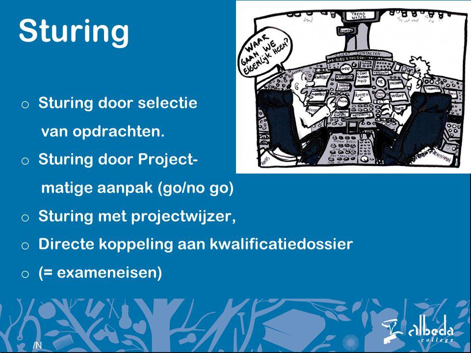 Sturing Sturing door selectie van opdrachten. Sturing door Project-