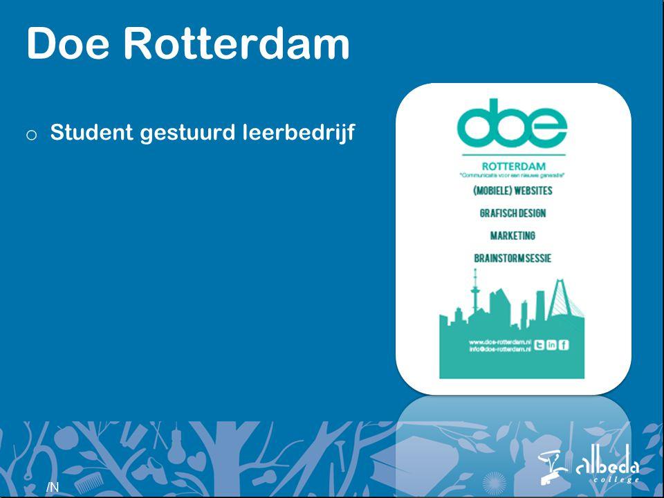 Doe Rotterdam Student gestuurd leerbedrijf Ronald