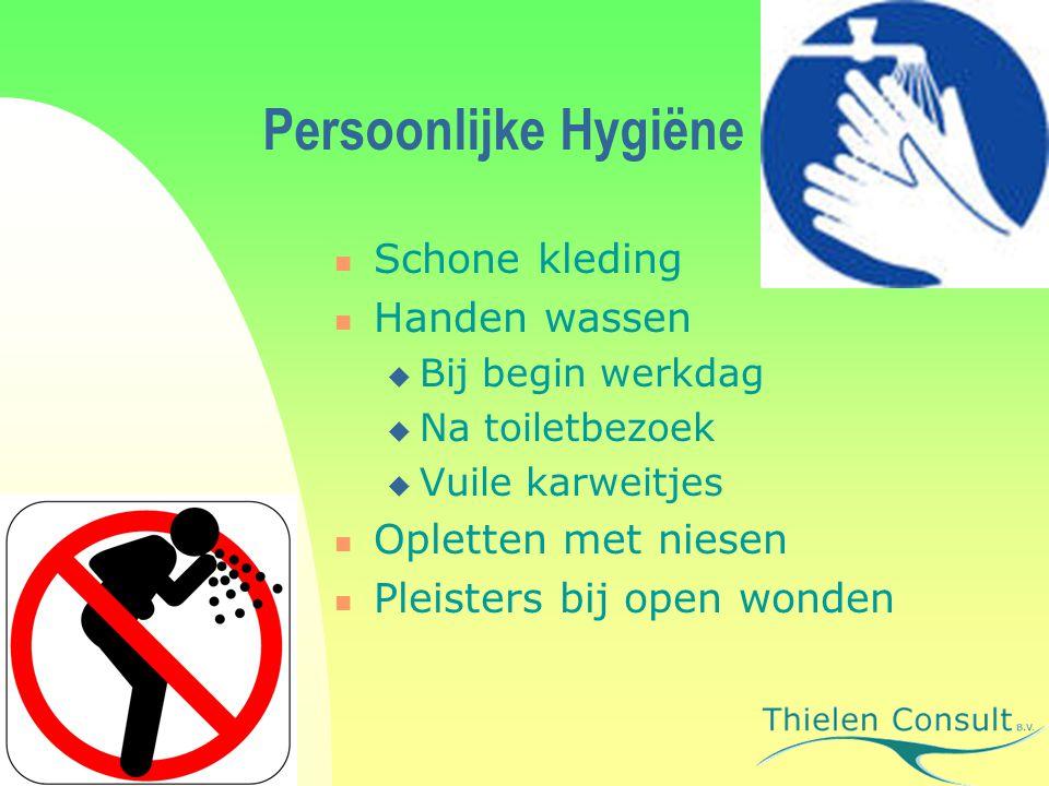 Persoonlijke Hygiëne Schone kleding Handen wassen Opletten met niesen
