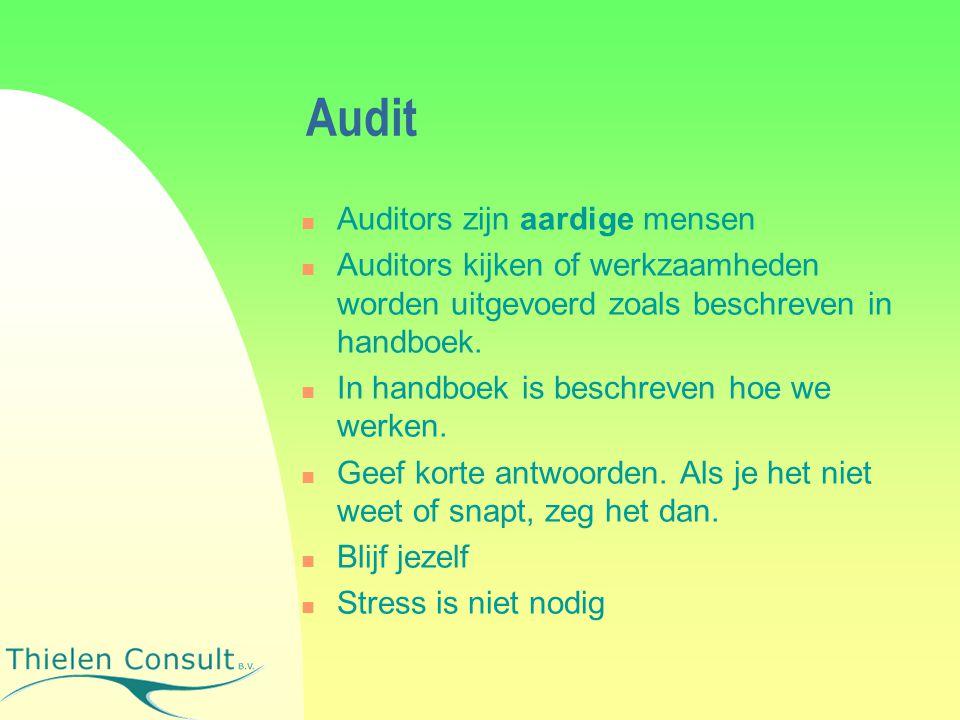 Audit Auditors zijn aardige mensen
