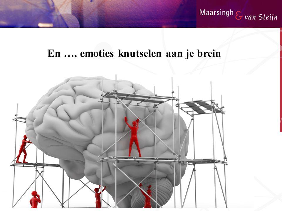 En …. emoties knutselen aan je brein