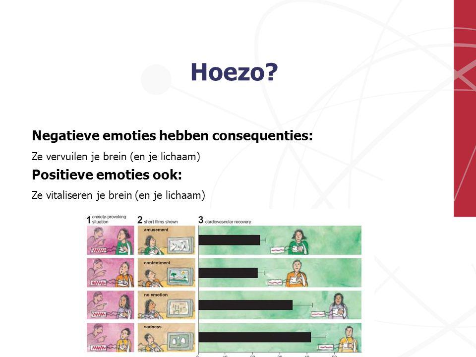 Hoezo Negatieve emoties hebben consequenties: Positieve emoties ook: