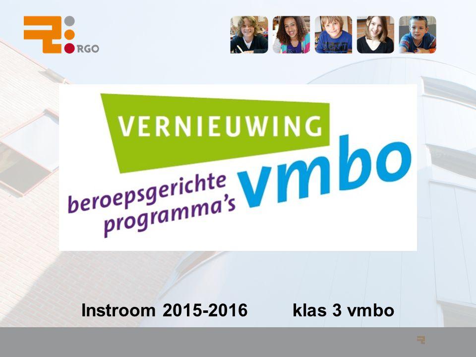 Instroom 2015-2016 klas 3 vmbo
