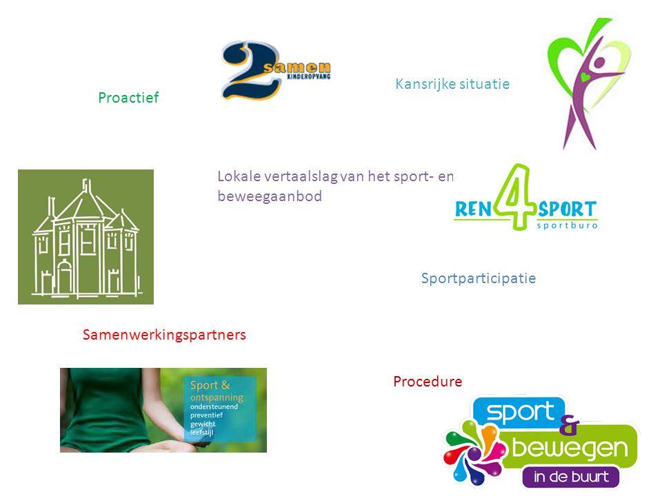 Kansrijke situatie Proactief. Lokale vertaalslag van het sport- en beweegaanbod. Sportparticipatie.