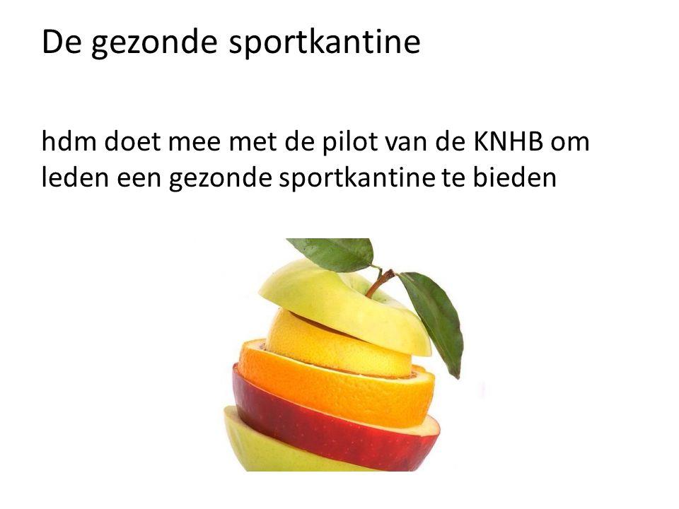 De gezonde sportkantine