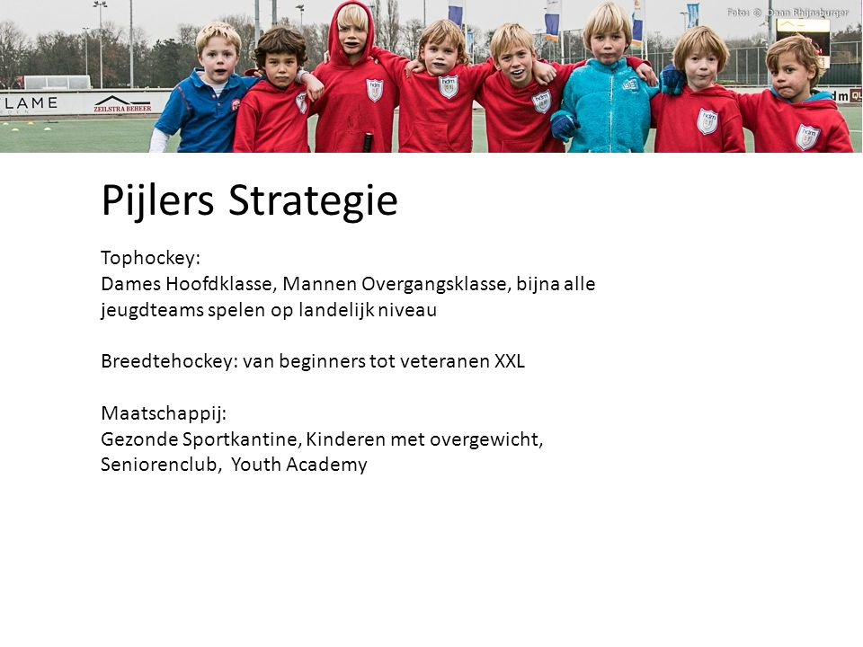 Pijlers Strategie Tophockey: