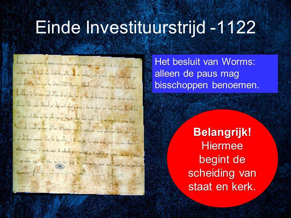 Einde Investituurstrijd -1122