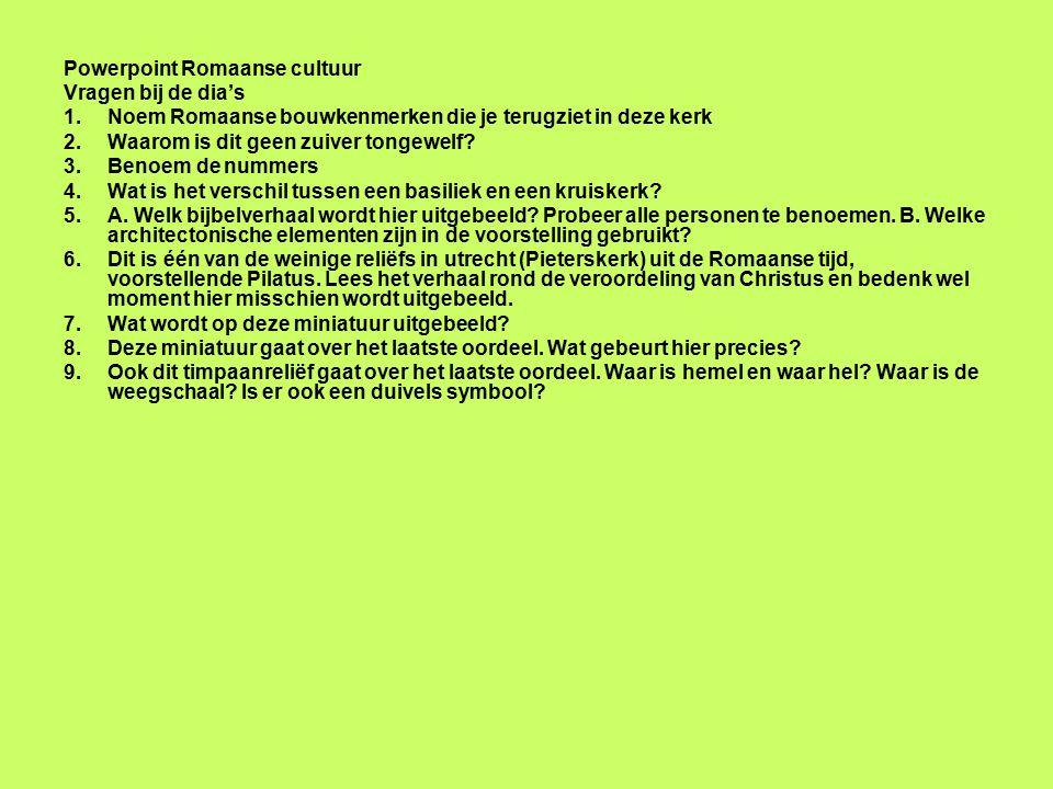 Powerpoint Romaanse cultuur