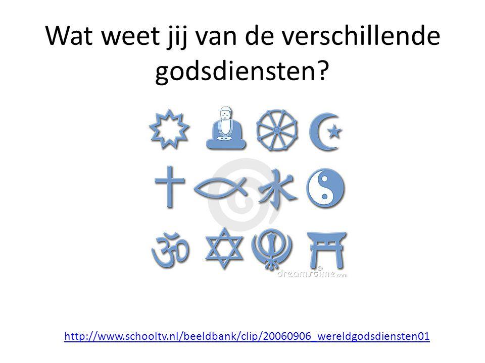Wat weet jij van de verschillende godsdiensten