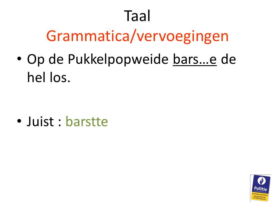 Taal Grammatica/vervoegingen