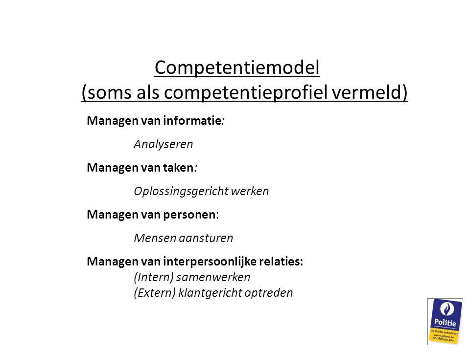 Competentiemodel (soms als competentieprofiel vermeld)