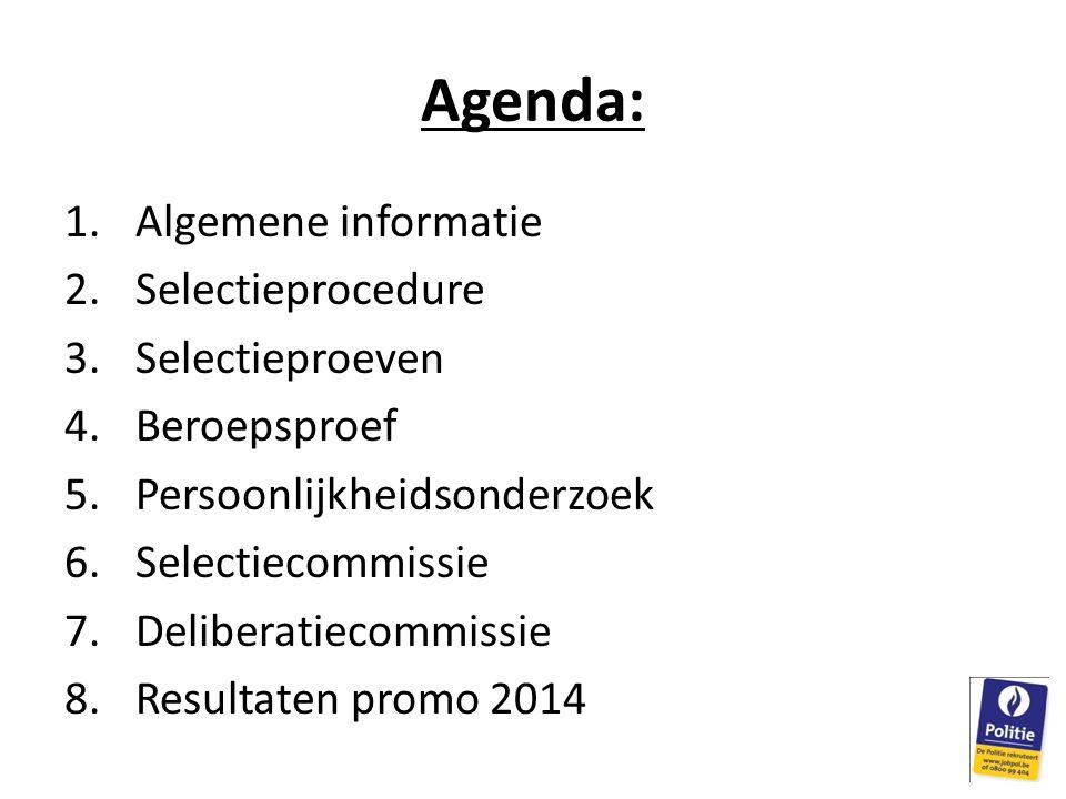 Agenda: Algemene informatie Selectieprocedure Selectieproeven