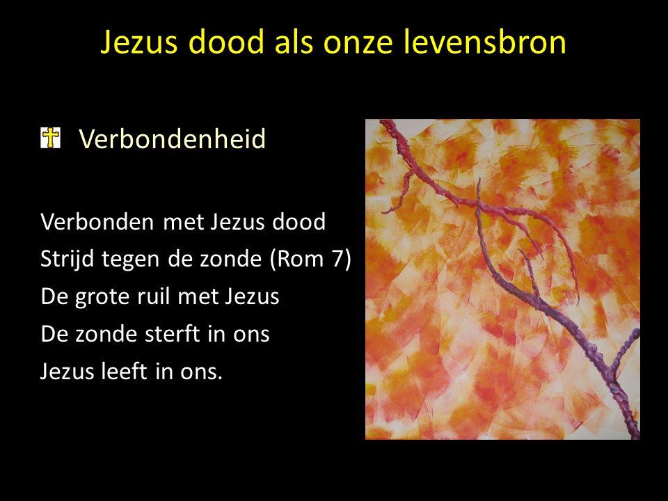 Jezus dood als onze levensbron