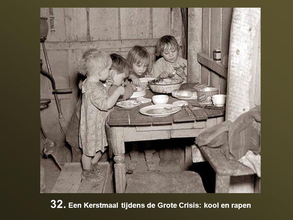 32. Een Kerstmaal tijdens de Grote Crisis: kool en rapen