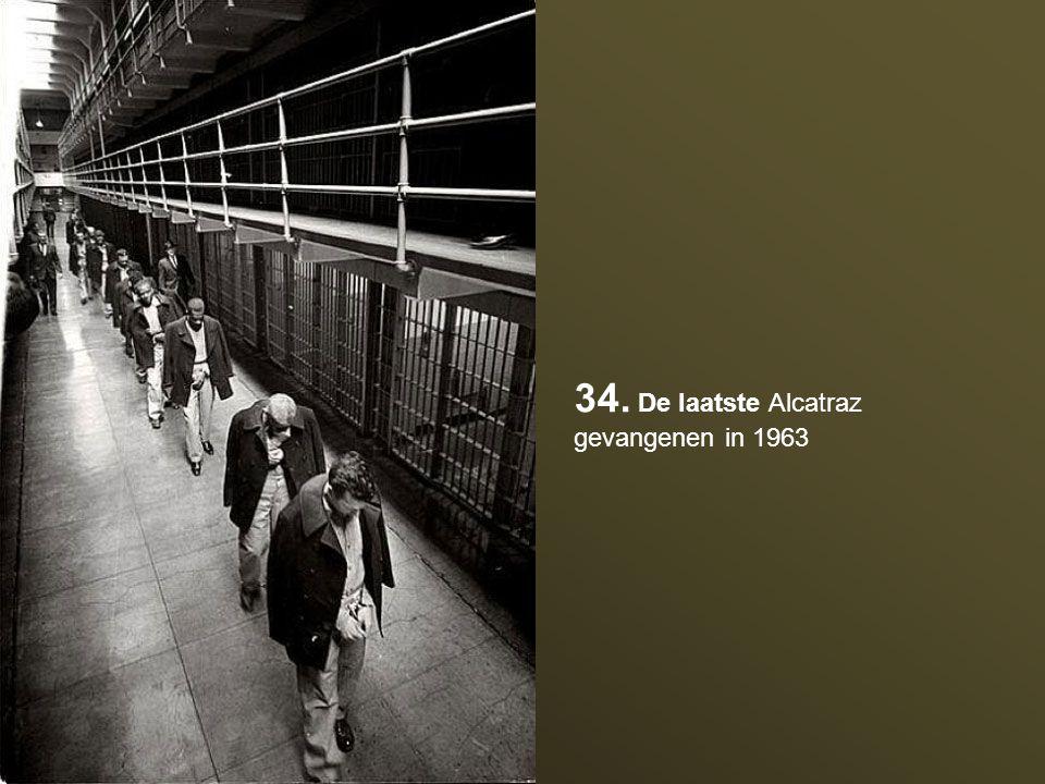 34. De laatste Alcatraz gevangenen in 1963
