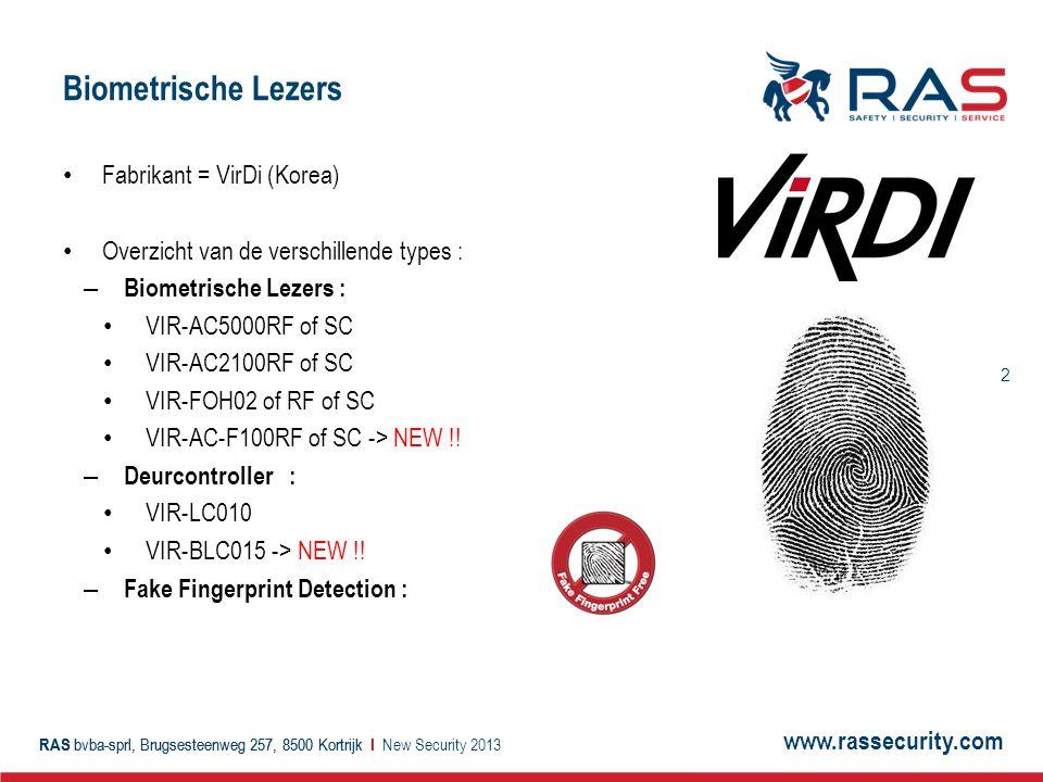 Biometrische Lezers Fabrikant = VirDi (Korea)