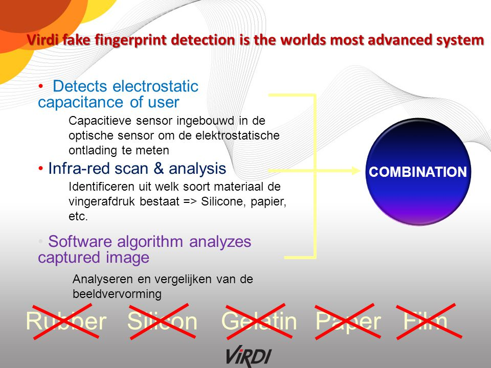 Virdi fake fingerprint detection is the worlds most advanced system