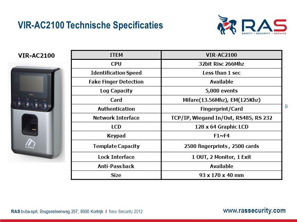 VIR-AC2100 Technische Specificaties