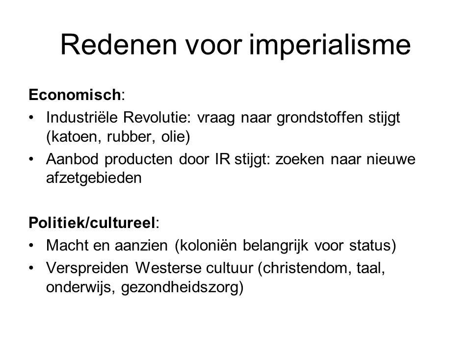 Redenen voor imperialisme