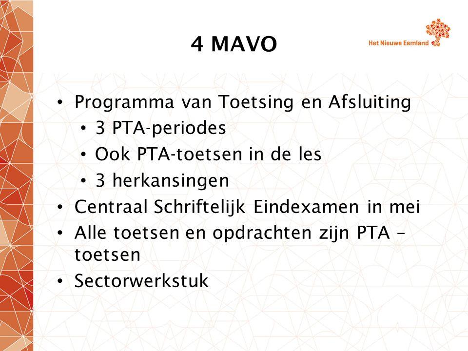 4 MAVO Programma van Toetsing en Afsluiting 3 PTA-periodes