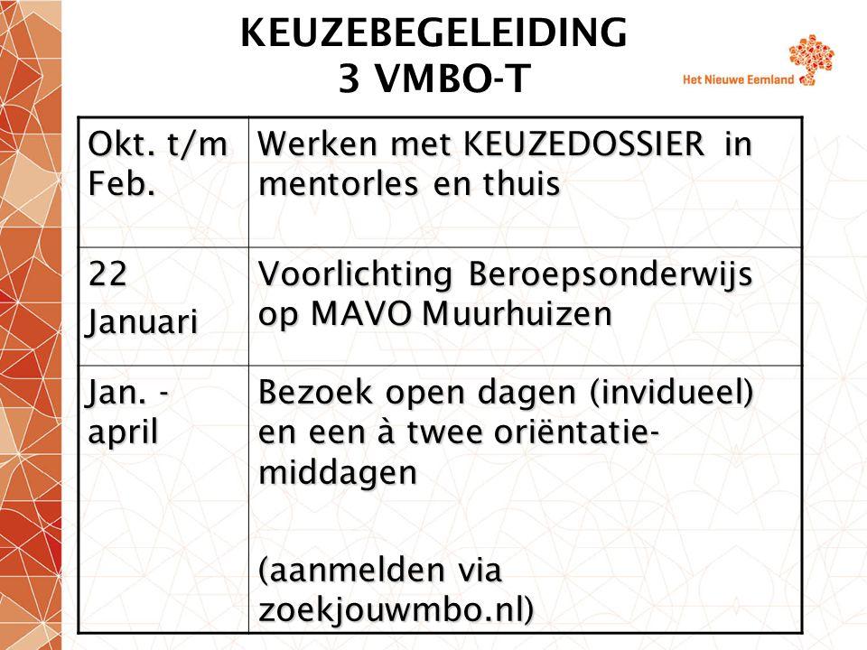 KEUZEBEGELEIDING 3 VMBO-T