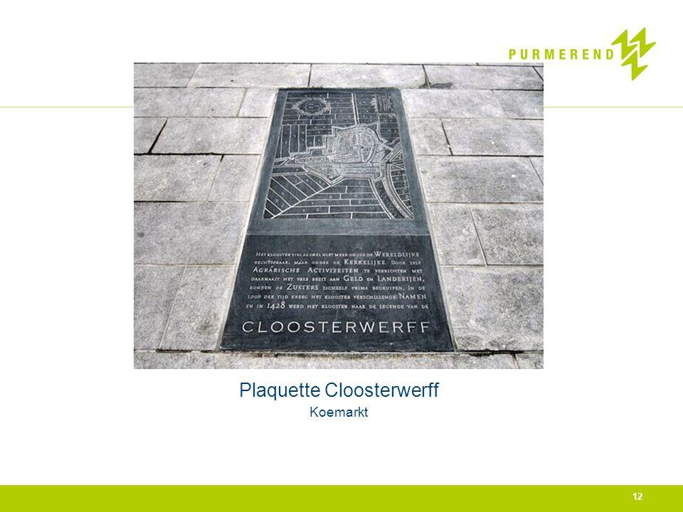 Plaquette Cloosterwerff