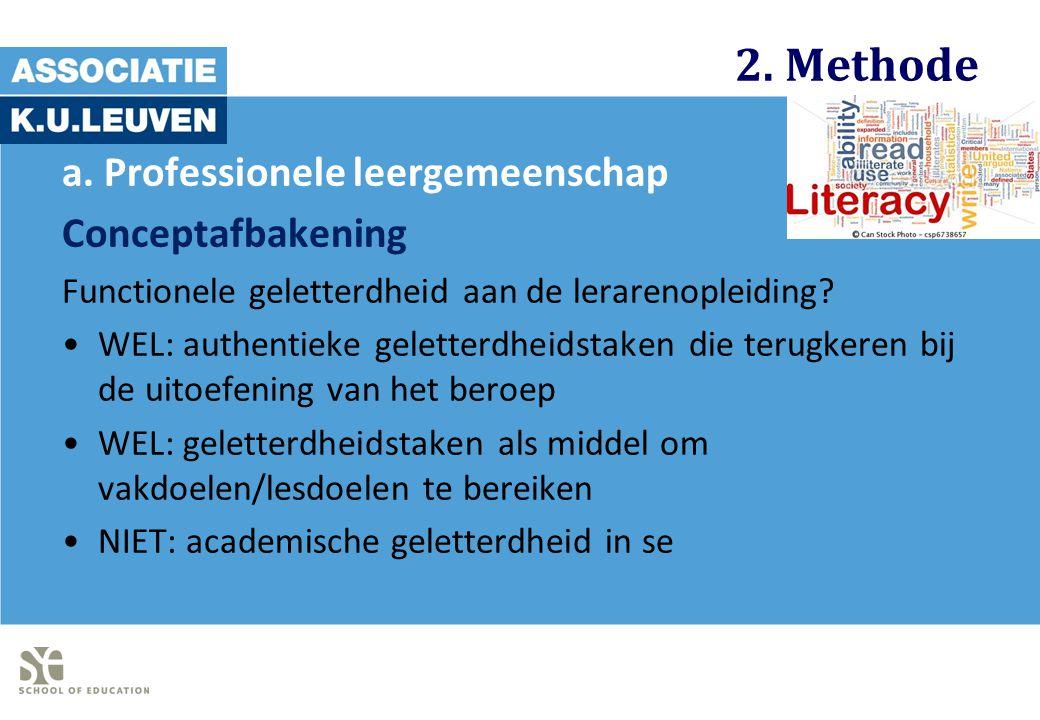 2. Methode a. Professionele leergemeenschap Conceptafbakening