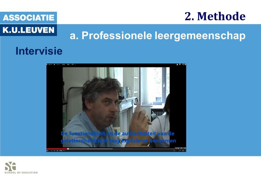2. Methode a. Professionele leergemeenschap Intervisie
