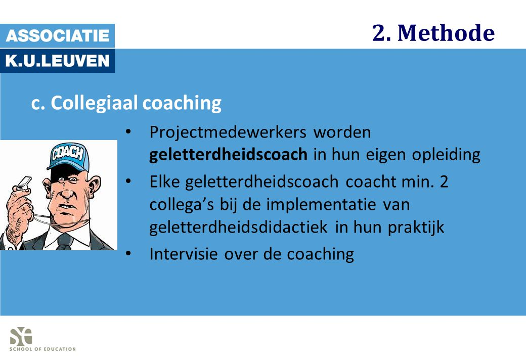 2. Methode c. Collegiaal coaching