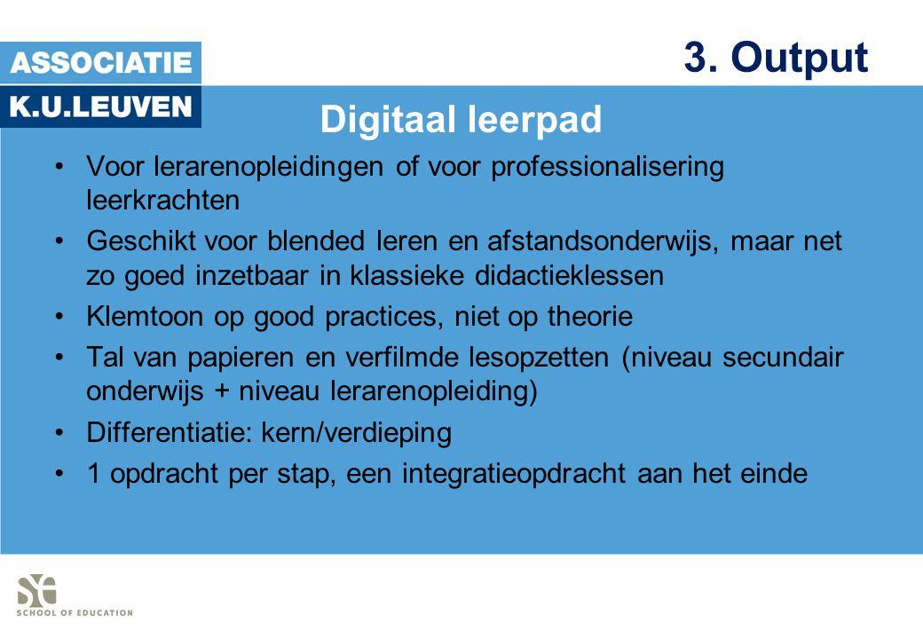 3. Output Digitaal leerpad