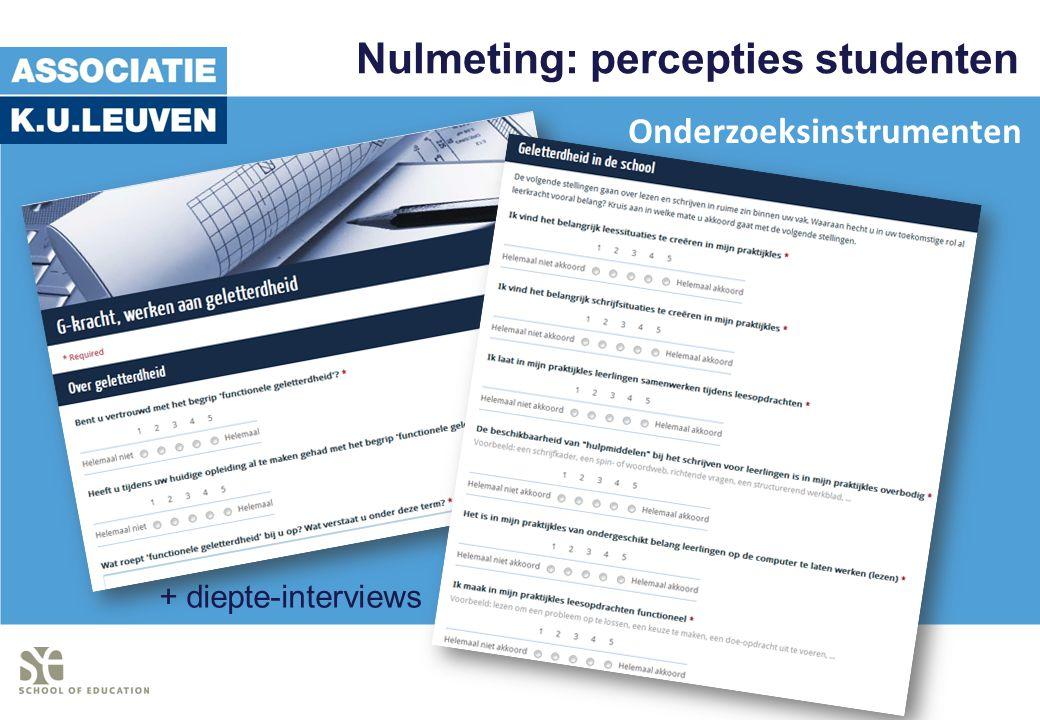 Nulmeting: percepties studenten