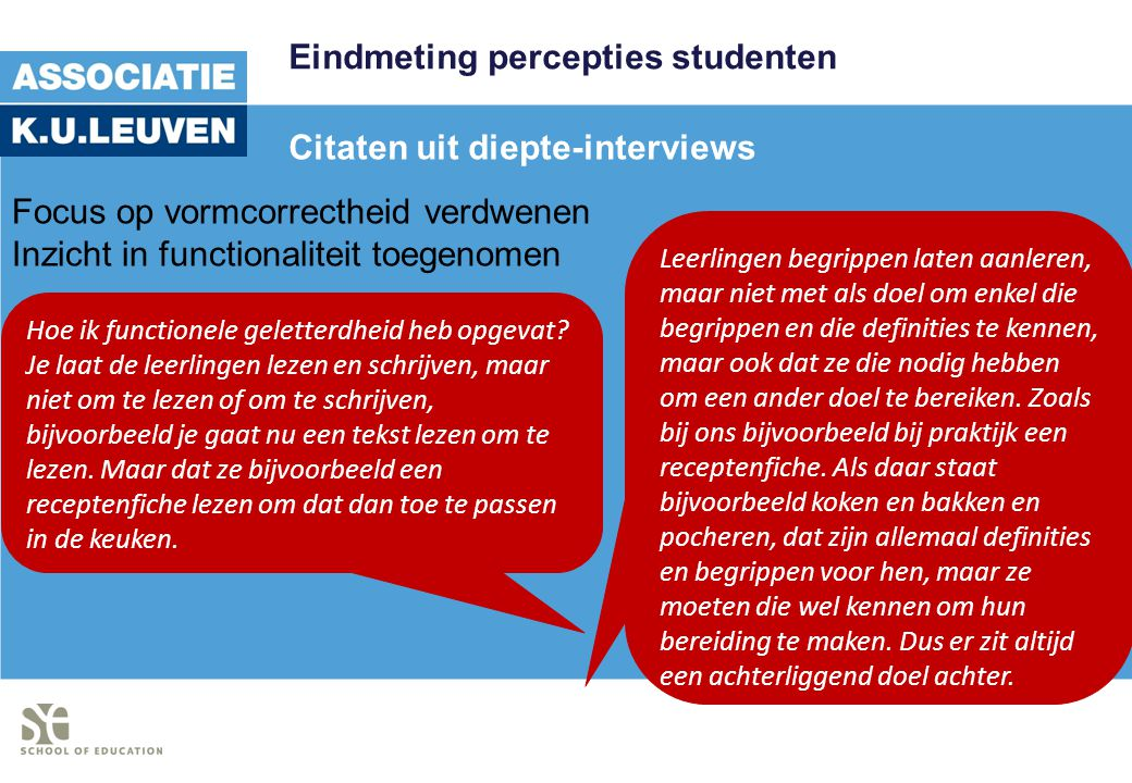Eindmeting percepties studenten